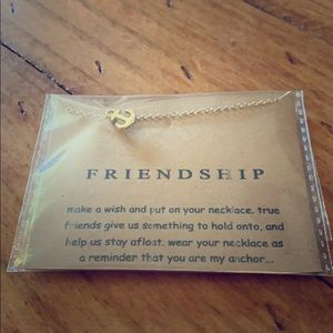Gold Friendship anchor necklace